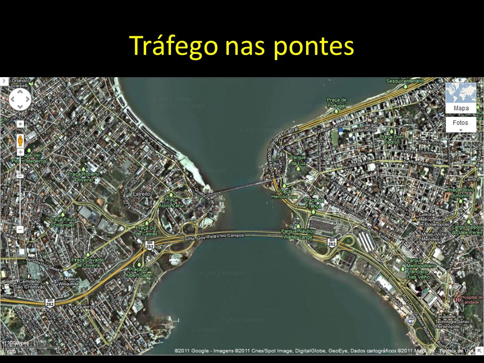 Tráfego nas pontes