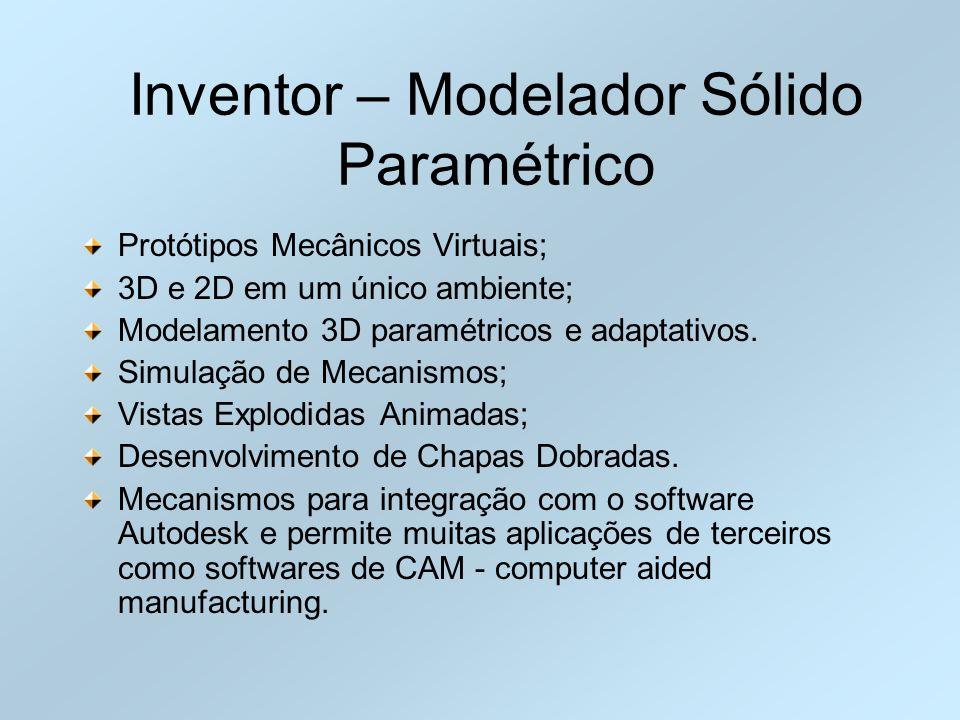 Inventor – Modelador Sólido Paramétrico