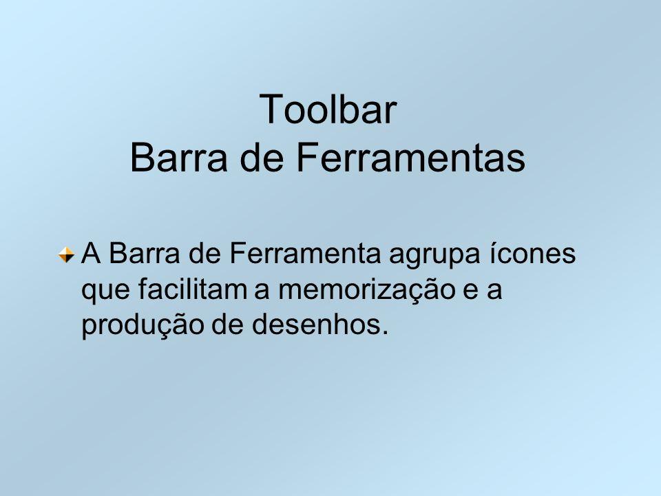 Toolbar Barra de Ferramentas