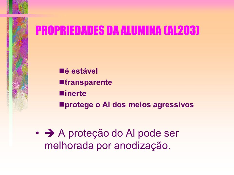 PROPRIEDADES DA ALUMINA (AL2O3)