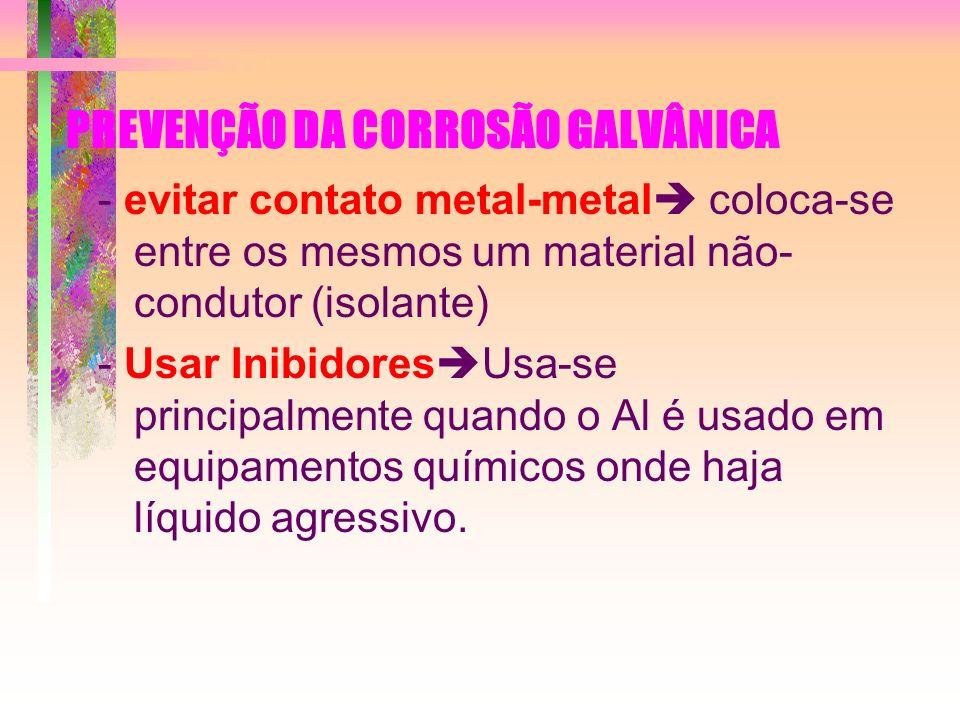 PREVENÇÃO DA CORROSÃO GALVÂNICA