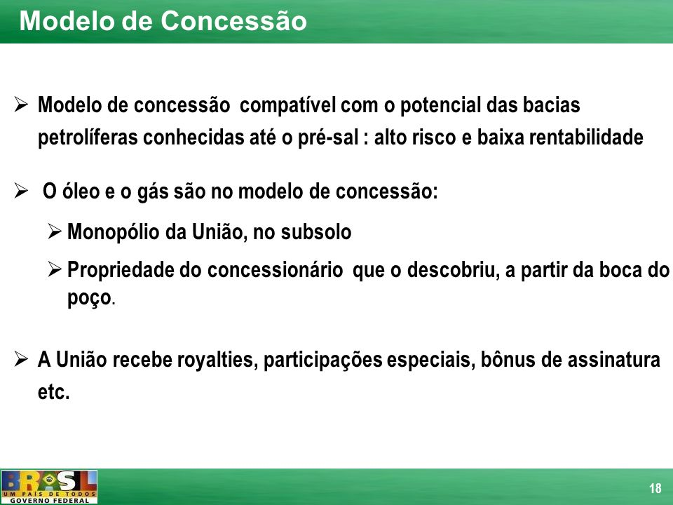 Modelo de Concessão