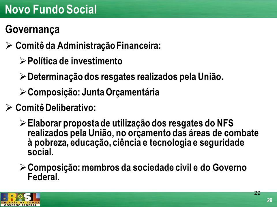 Novo Fundo Social Governança Comitê da Administração Financeira: