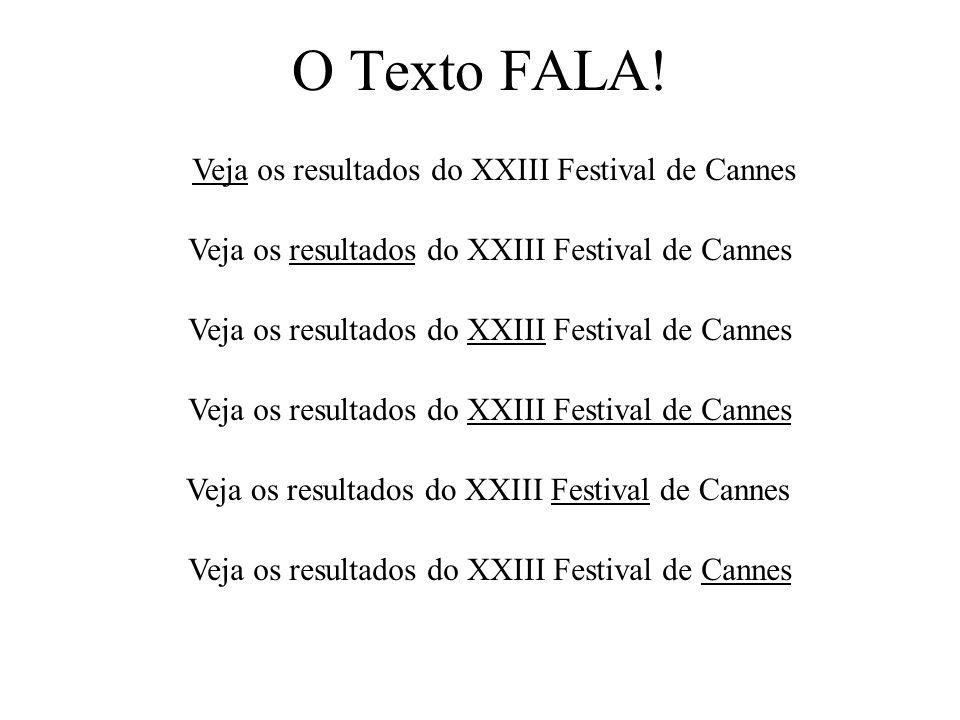 O Texto FALA! Veja os resultados do XXIII Festival de Cannes