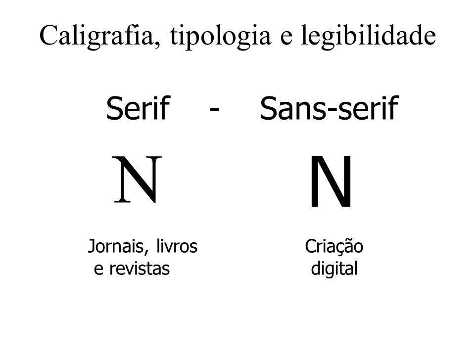 Caligrafia, tipologia e legibilidade