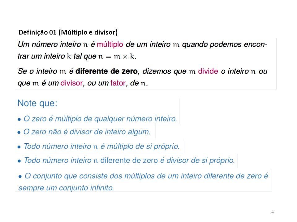 Definição 01 (Múltiplo e divisor)
