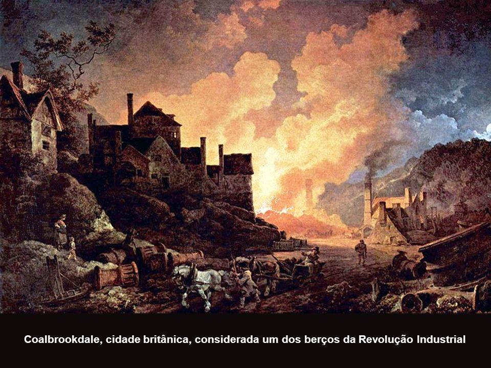 Coalbrookdale, cidade britânica, considerada um dos berços da Revolução Industrial