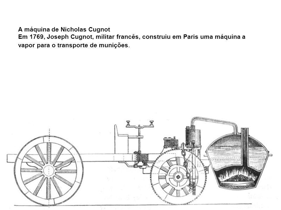 A máquina de Nicholas Cugnot