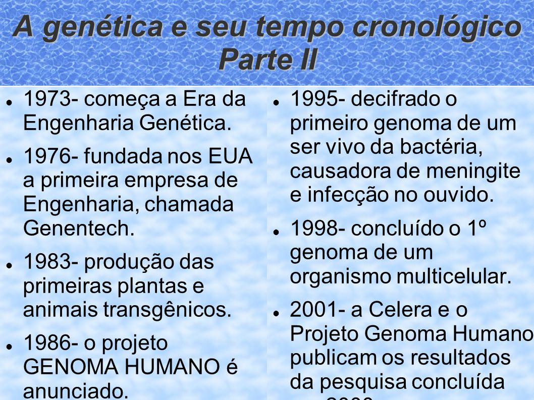 A genética e seu tempo cronológico Parte II