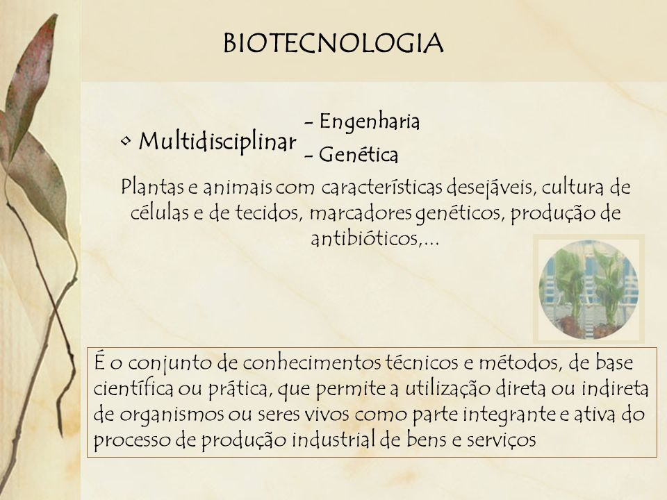 BIOTECNOLOGIA Multidisciplinar - Engenharia - Genética
