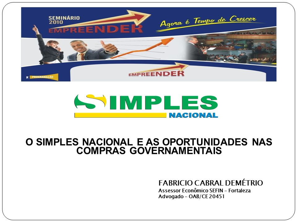 O SIMPLES NACIONAL E AS OPORTUNIDADES NAS COMPRAS GOVERNAMENTAIS