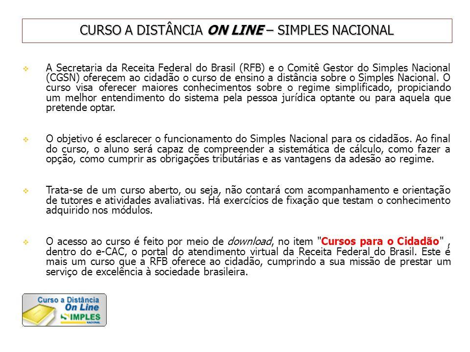 CURSO A DISTÂNCIA ON LINE – SIMPLES NACIONAL