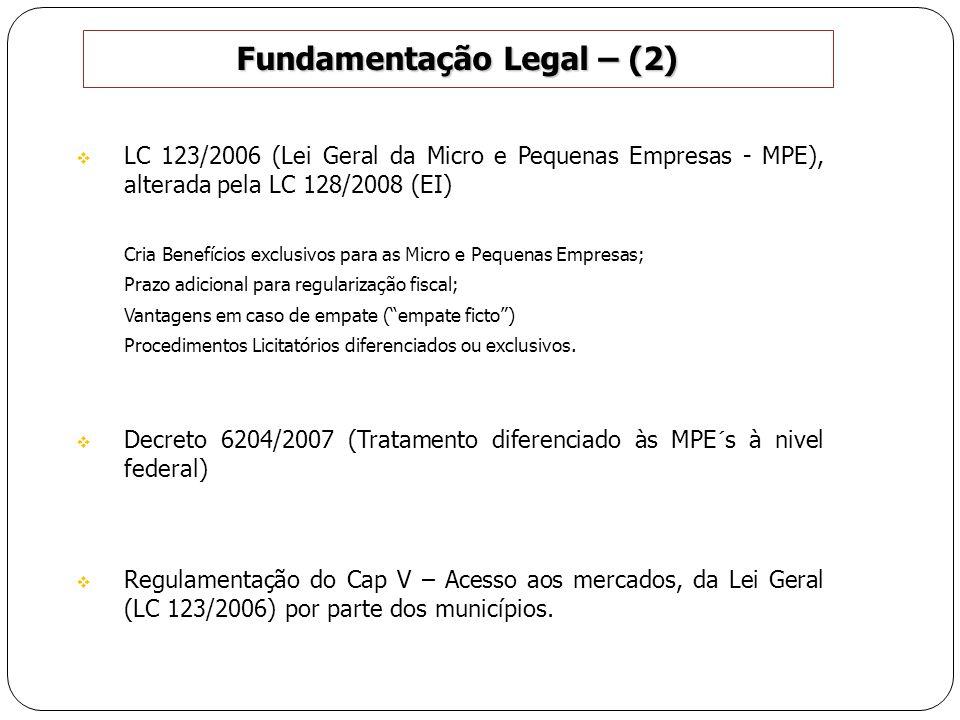 Fundamentação Legal – (2)