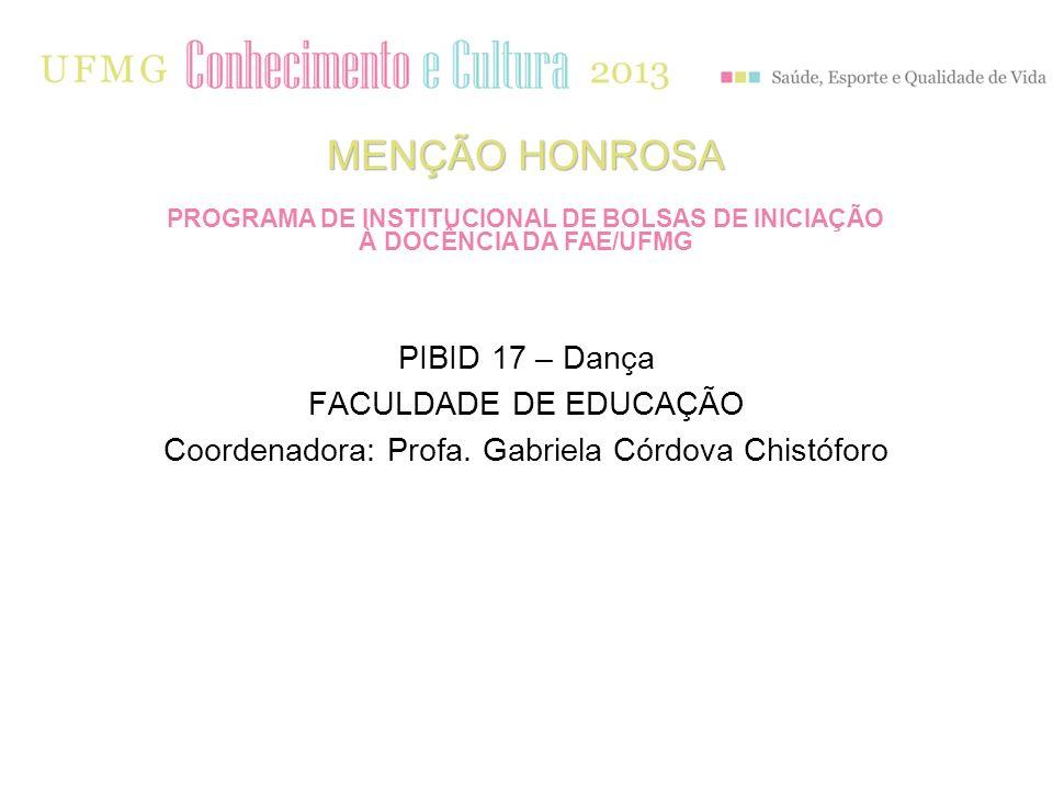 Coordenadora: Profa. Gabriela Córdova Chistóforo