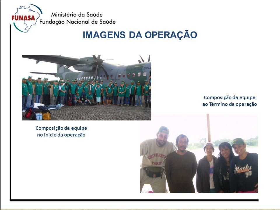 IMAGENS DA OPERAÇÃO Composição da equipe ao Término da operação