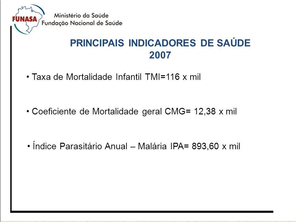 PRINCIPAIS INDICADORES DE SAÚDE 2007