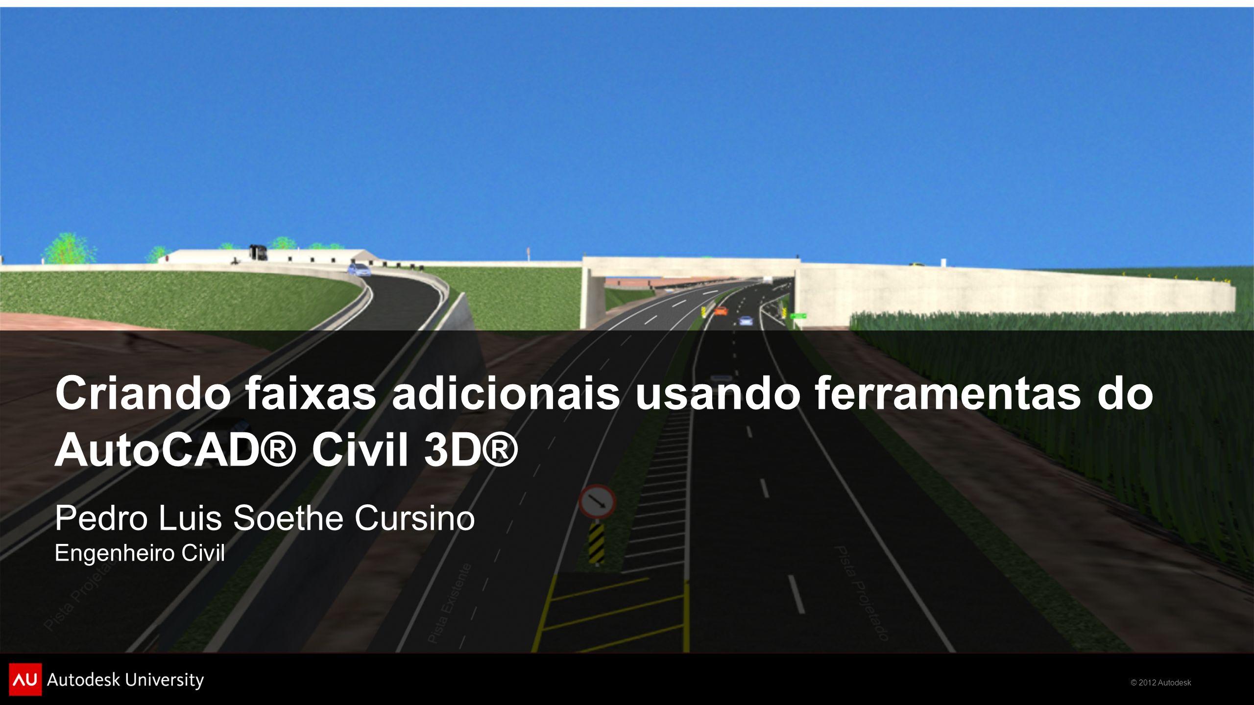 Criando faixas adicionais usando ferramentas do AutoCAD® Civil 3D®