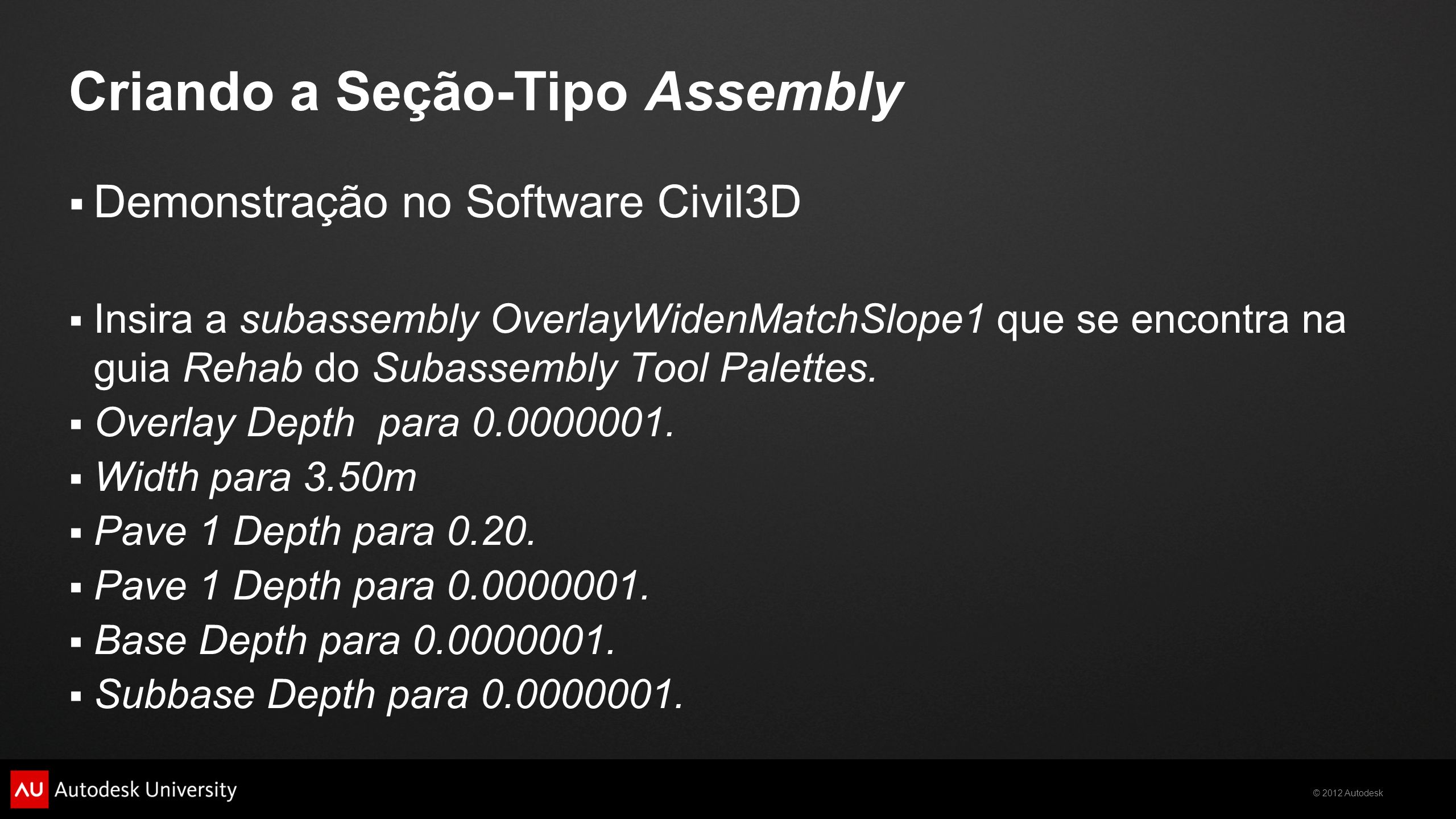 Criando a Seção-Tipo Assembly