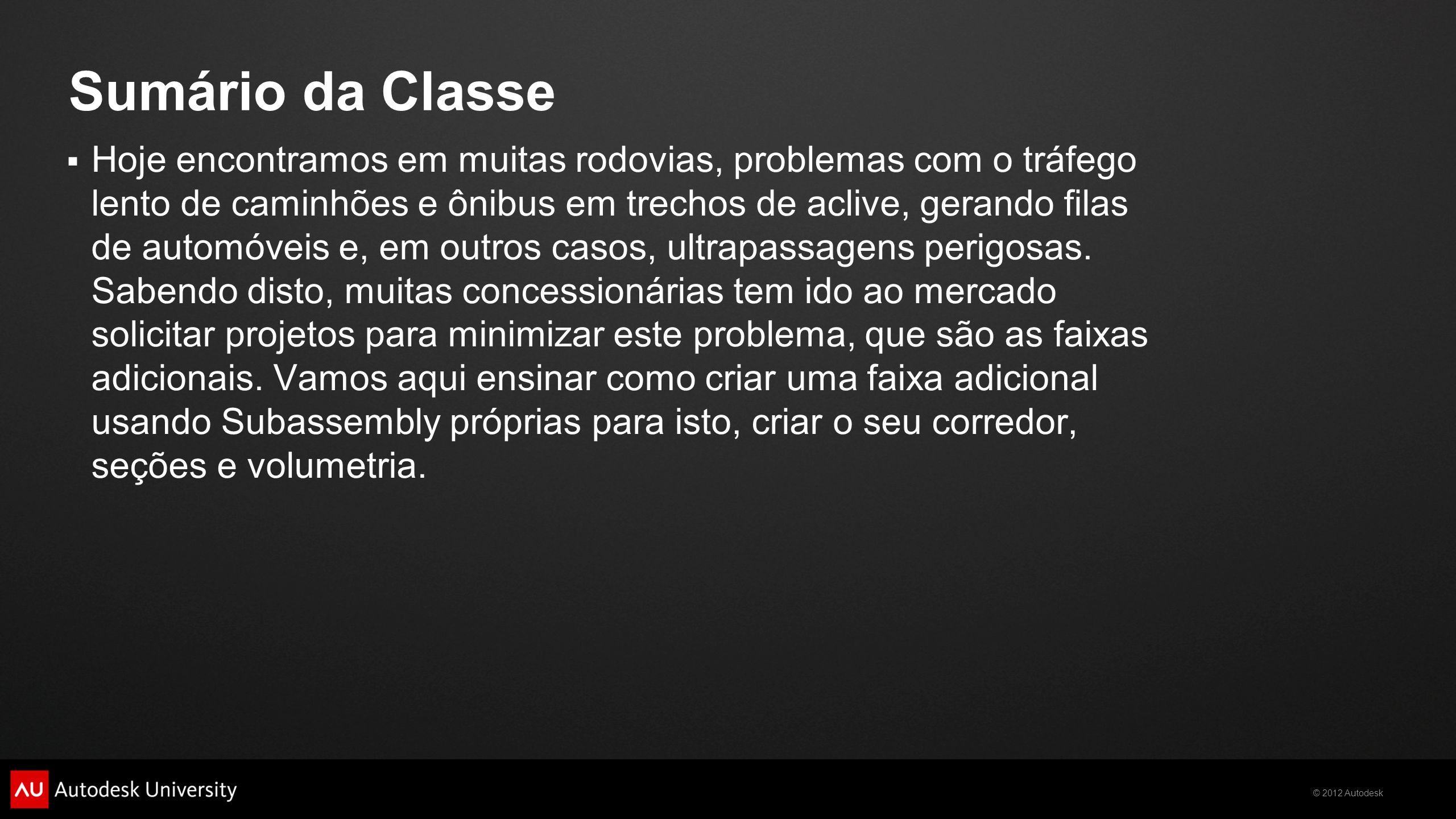 Sumário da Classe