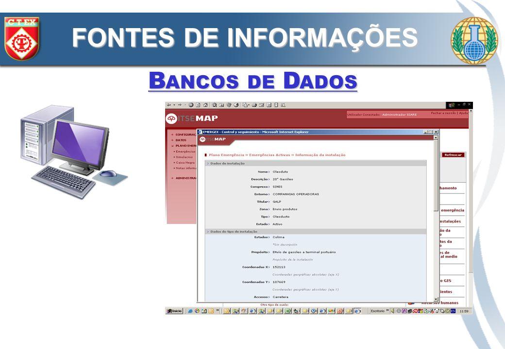 FONTES DE INFORMAÇÕES Bancos de Dados