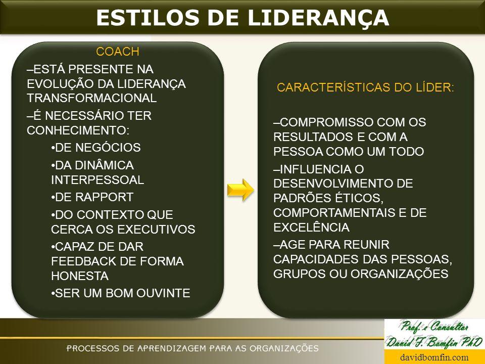 CARACTERÍSTICAS DO LÍDER: