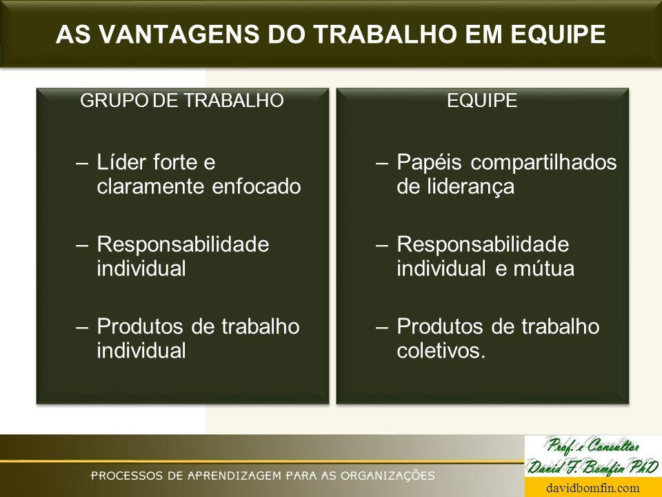 AS VANTAGENS DO TRABALHO EM EQUIPE