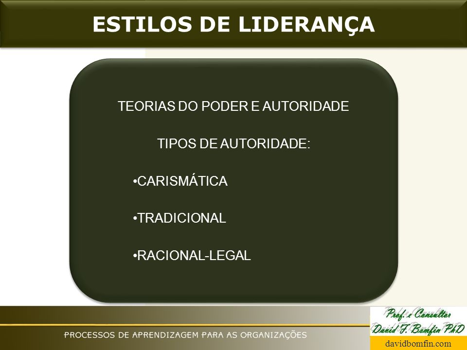 TEORIAS DO PODER E AUTORIDADE