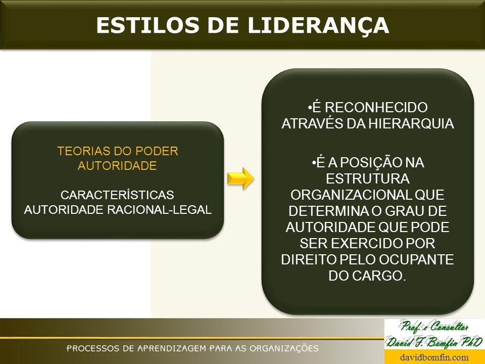 ESTILOS DE LIDERANÇA É RECONHECIDO ATRAVÉS DA HIERARQUIA