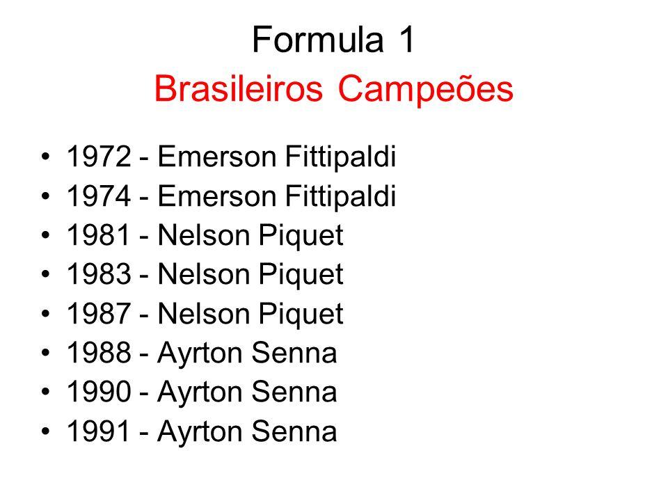 Formula 1 Brasileiros Campeões 1972 - Emerson Fittipaldi