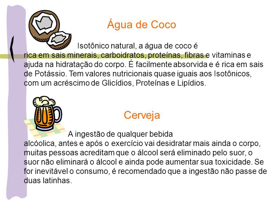 Água de Coco Cerveja Isotônico natural, a água de coco é