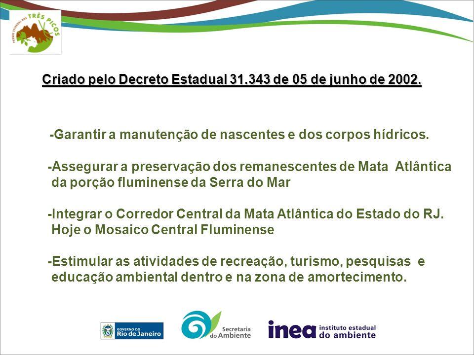 Criado pelo Decreto Estadual 31.343 de 05 de junho de 2002.