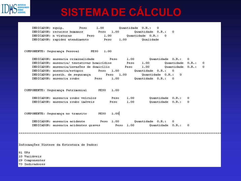 SISTEMA DE CÁLCULO