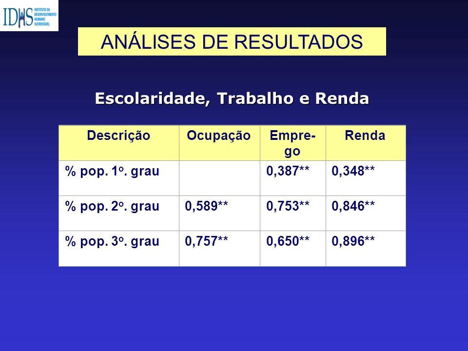 ANÁLISES DE RESULTADOS
