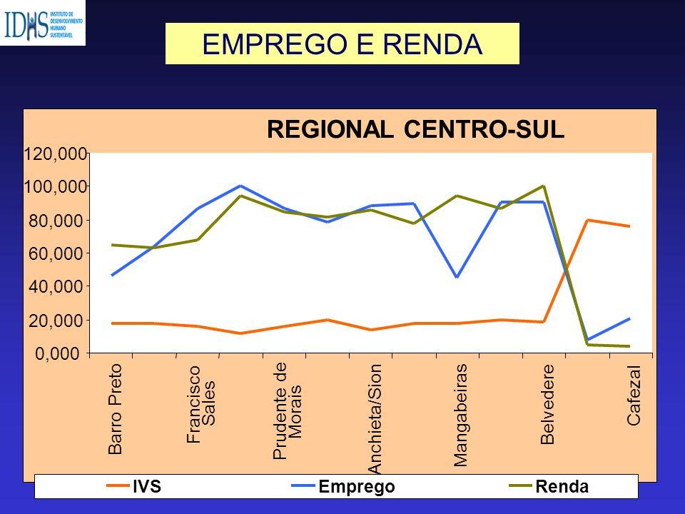 EMPREGO E RENDA REGIONAL CENTRO-SUL 120,000 100,000 80,000 60,000