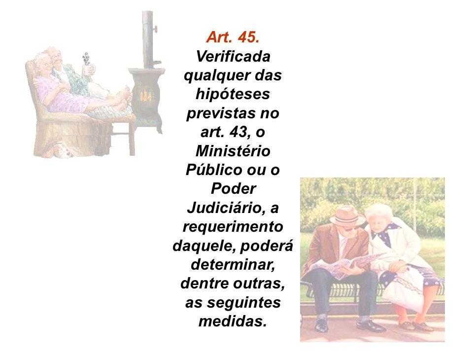 Art. 45. Verificada qualquer das hipóteses previstas no art