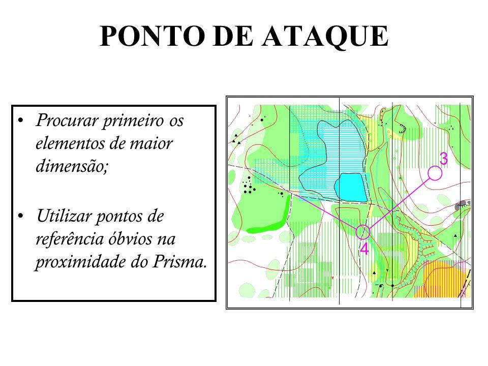 PONTO DE ATAQUE Procurar primeiro os elementos de maior dimensão;