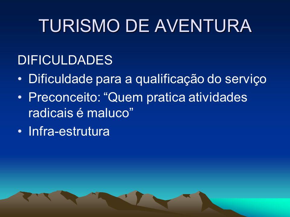 TURISMO DE AVENTURA DIFICULDADES