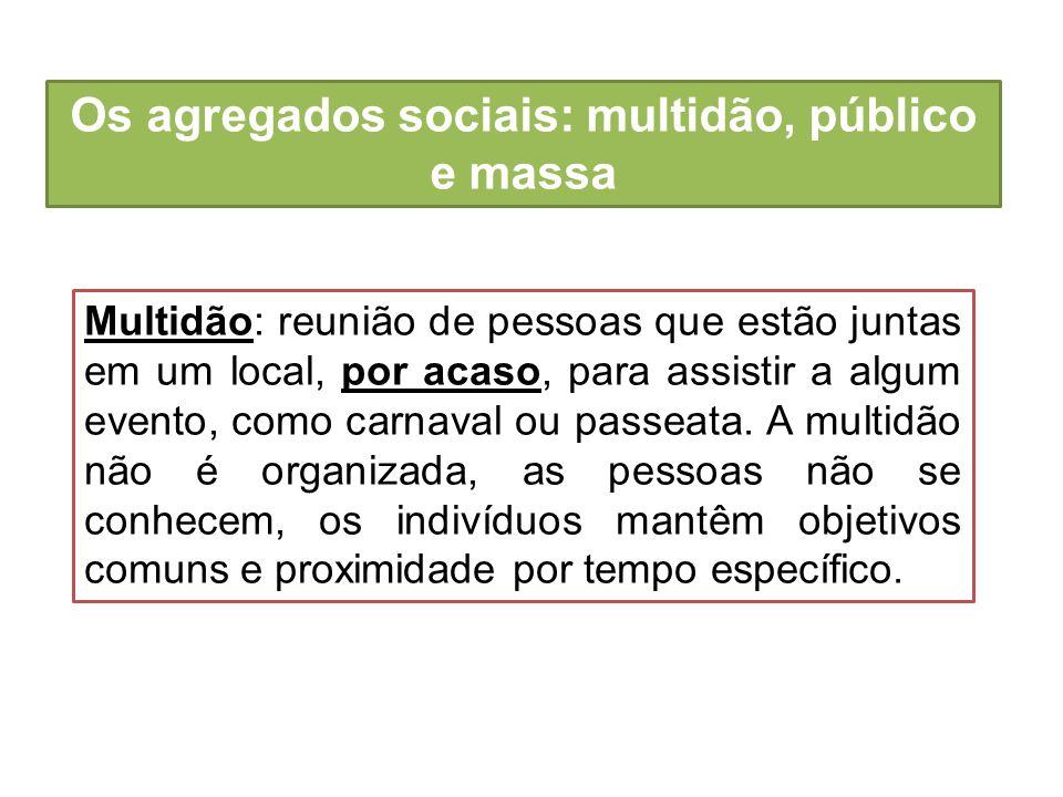 Os agregados sociais: multidão, público e massa