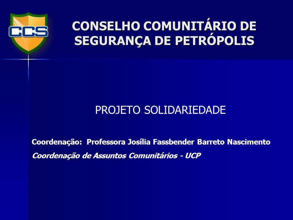 CONSELHO COMUNITÁRIO DE SEGURANÇA DE PETRÓPOLIS