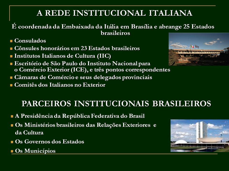A REDE INSTITUCIONAL ITALIANA