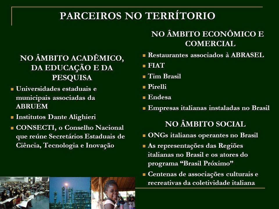 PARCEIROS NO TERRÍTORIO