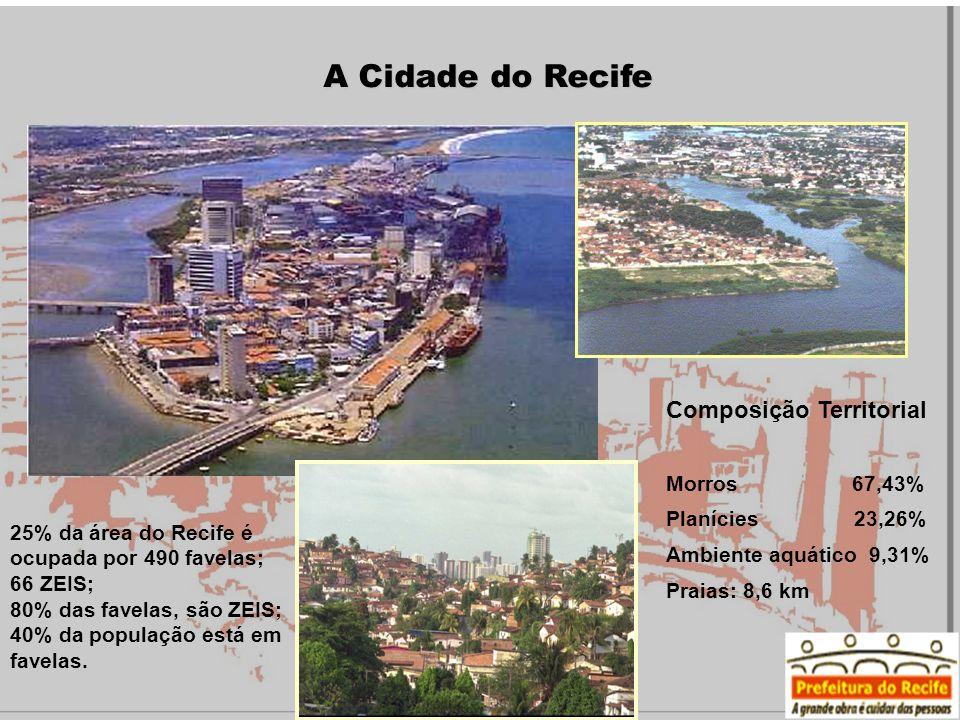 A Cidade do Recife Composição Territorial Morros 67,43%