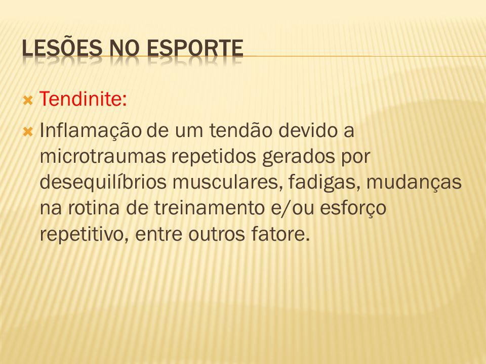 Lesões no esporte Tendinite: