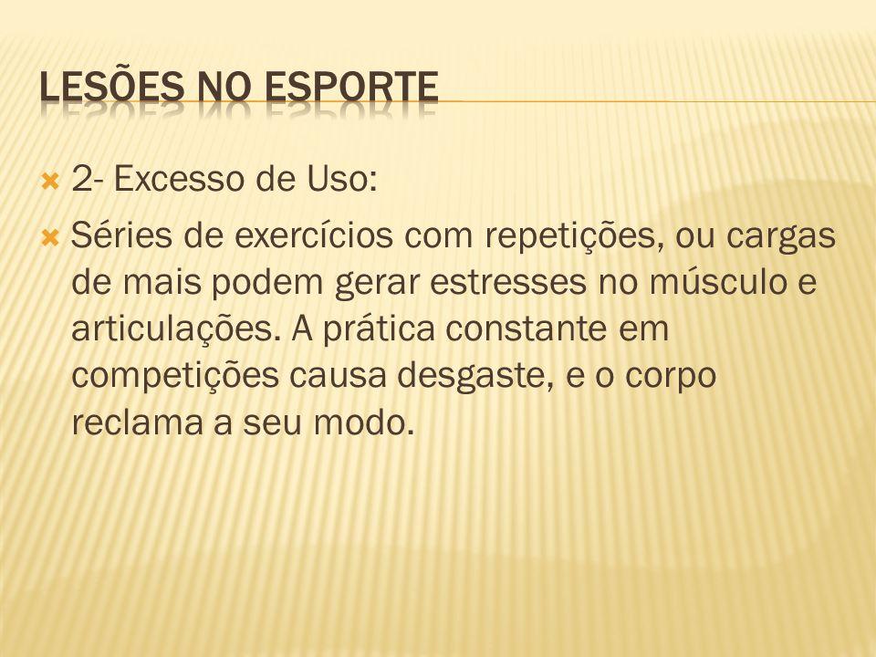 Lesões no esporte 2- Excesso de Uso: