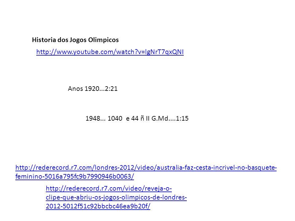 Historia dos Jogos Olimpicos