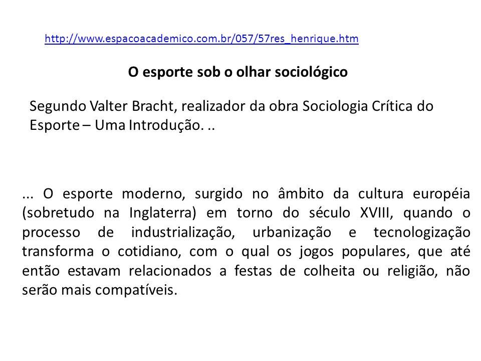 O esporte sob o olhar sociológico