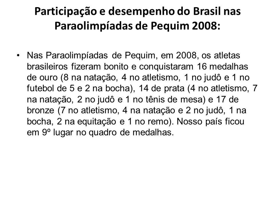 Participação e desempenho do Brasil nas Paraolimpíadas de Pequim 2008: