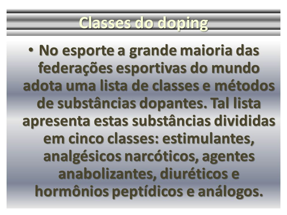 Classes do doping
