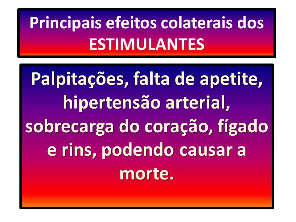 Principais efeitos colaterais dos ESTIMULANTES