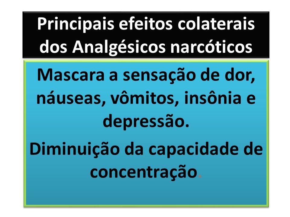 Principais efeitos colaterais dos Analgésicos narcóticos